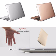 Transparent Crystal Plastic Hard Clear Laptop Shell Case Cov