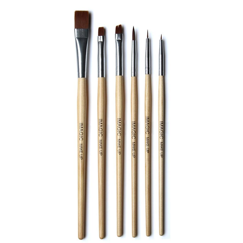 Bellylady 6 Pcs Professional Makeup Brushes Set Wooden Handle Halloween Body Face Paint Kit