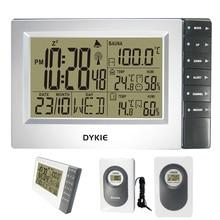 DYKIE Hot Selling RCC Weerstations met Digitale Wekker Indoor Outdoor Thermometer Hygrometer Sauna Temperatuur
