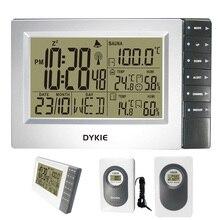 DYKIE מכירה לוהטת RCC תחנות מזג אוויר עם שעון מעורר דיגיטלי מקורה חיצוני מדחום מדדי לחות טמפרטורת סאונה