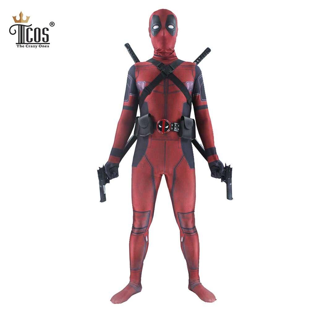 Deadpool Kostym 3D Spandex Lycra Avengers Full Body Second Skin Tight - Maskeradkläder och utklädnad - Foto 5