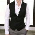 Wholesale & Retail Vintage Men Suit Vest 2015 New Arrival Slim Fit Fashion Designer Brand Formal Business Dress Waistcoat