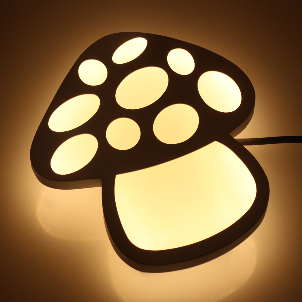 Mushroom Modern Led Wall Lights For Bedroom Balcony Kids Room Hardware+Acrylic 18W Home Decoration Wall Lamp Free Shipping layered strand velvet choker necklace