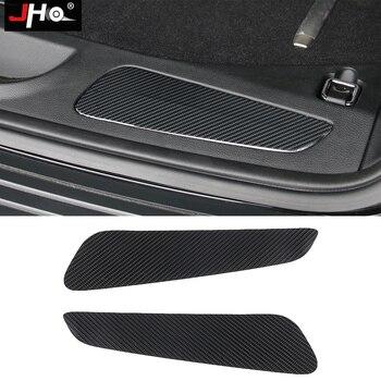 JHO Carbon Fiber Rear Bumper Protector Guard Cover Trim Stickers For Jeep Grand Cherokee 2014-18 2015 2016 2017 Car Accessories