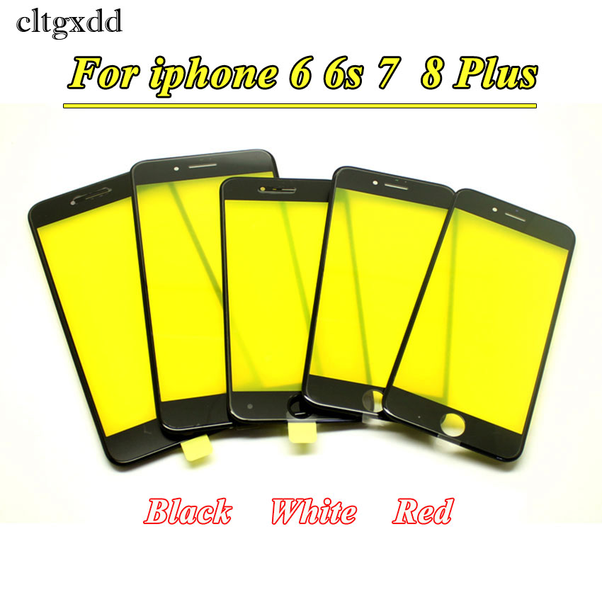 cltgxdd For iPhone 6 6S Plus 6P 6SP 7 8 Plus Touch Screen LCD Front Touch Panel Glass Outer Lens Screen Digitizer+Frame image