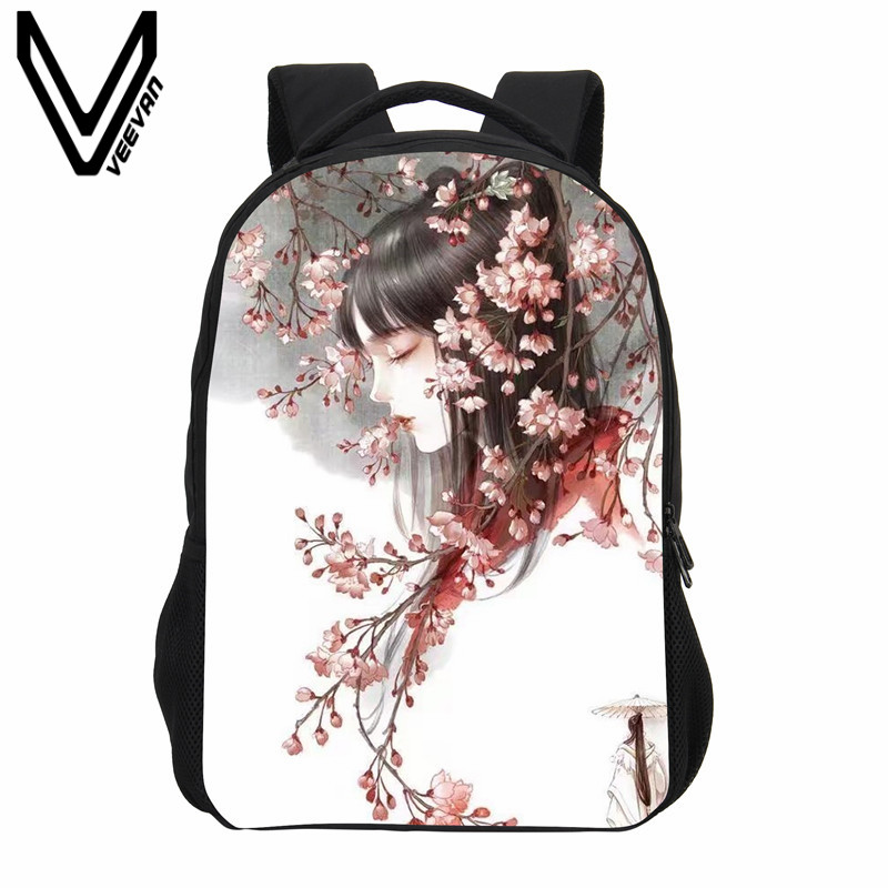 VEEVANV 3D Cartoon Women Backpack School Backpack Girls Chinese Anime Printing Shoulder Bag Fashion Children Mochila Boy Bookbag veevanv brand school backpacks children shoulder bags dragon pattern printing backpack fashion mochila boys casual daily bag new