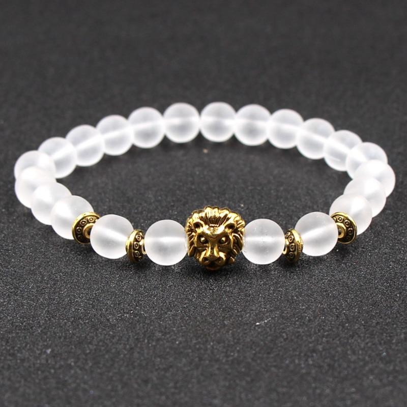 Masculina hombre erkek bileklik Natural Stone leo beads strand Bracelet Femme Beads Bracelets Turkish Men Jewelry Pulseras