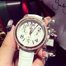 Luxury Brand Ladies Watch Women Fashion 3 Eyes Dial Watches Women s Leather Calender Quartz Watch