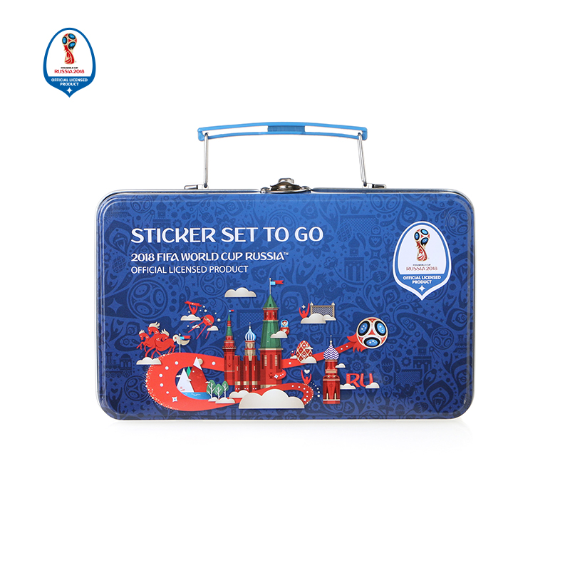 Stickers Souvenirs Russian Soccer Cup Stickers Iron Box 6 Styles Brand Designer 2018 New Arrival Good Quality