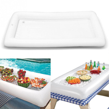 IHOME Inflatable Air Ice Bar Rectangle Drinks Holder Water Mattress for Cups Pool Float Swim Dropshipping