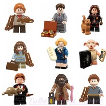 Legoing Harri Potter Figures Rubeus Dobby Hagrid Seamus Finnigan Hermione Legoingly Bricks Model Building Blocks Kids Toys Gifts(China)