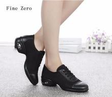 Fine Zero 2017 women NEW Modern Jazz Dance Sneakers Breathable Mesh Hip-Hop Square Heel Dancing female Fitness hip hop Shoes