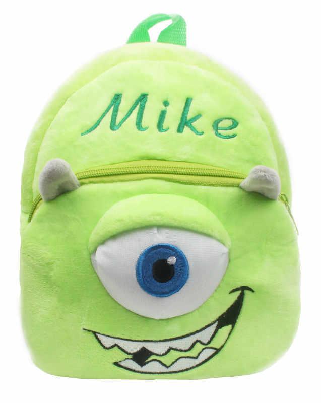 b160d339d992 Cute Monsters University Mike Wazowski Plush Bags Children School Bags  Small Kindergarten Preschool Backpacks for Baby