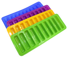 Thickened 10 even thumb long strip silicone biscuit mould chocolate baking ice cube block clay