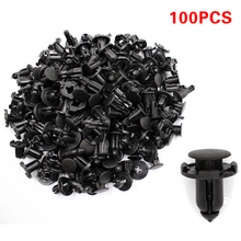 100Pcs 8mm auto Fender fastener vehicle car bumper clips Rivet Retainer Black for Door car Trim Panel for Nissan car styling