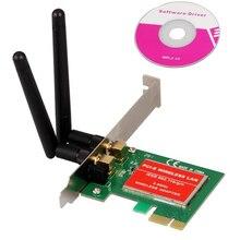 CAA Hot PCI Express PCI-e 300Mbps IEEE 802.11b/g/n Wireless WiFi Network Card Adapter