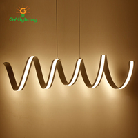New Style Creative Led Wave Light Modern Simple Living Room Restaurant Lighting Dining Room Decoration Designer