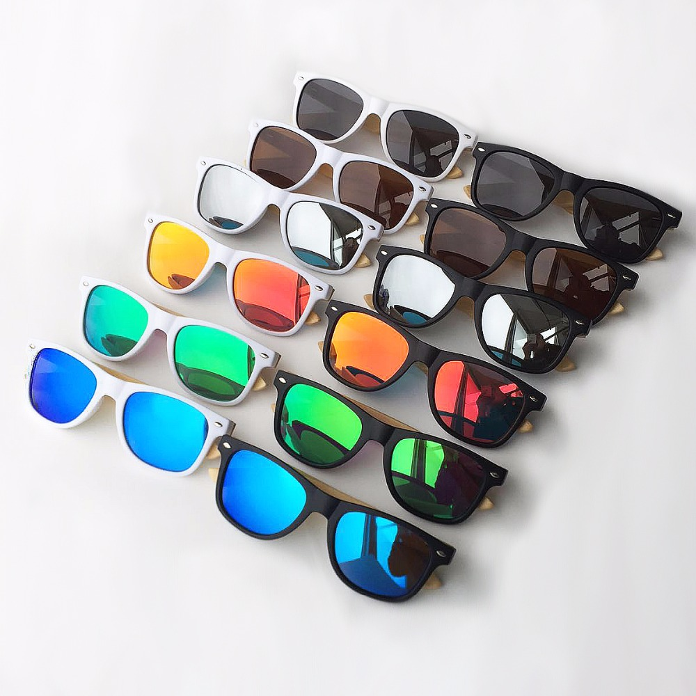 Oeientree  outlet Wood Sunglasses Polarized Wooden Glasses UV400 Bamboo Sungl...
