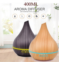 400 ml Wood Grain Ultrasonic Air Humidifier Portable Mini Aroma Essential Oil Diffuser for Car Room Home Office