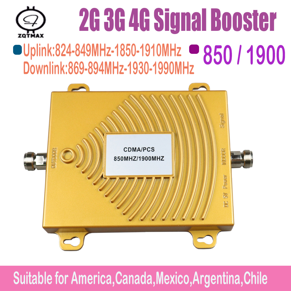 2G 3G 4G Cell Phone Signal Booster Amplifier 850MHz 1900MHz Mobile Repeaters Home   Repeater  Data