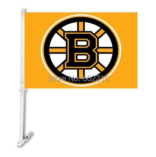 2PC Boston Bruins Hockey Logo Car Flag-in Flags, Banners ...
