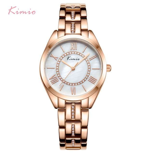 KIMIO Brand Classic Women Bracelet Watches Ladies Natural Seashell Dial Quartz W