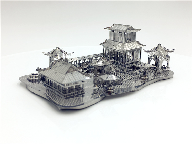3D Three-dimensional Metal Puzzle China Suzhou Garden Hand-assembled Building Model Adult Toys Children's Puzzle Stainless Steel