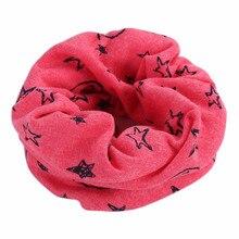 Новинка; Детский шарф; шарфы; теплые петли; шейный платок со смайликом; звезды для зимы; VK-ING
