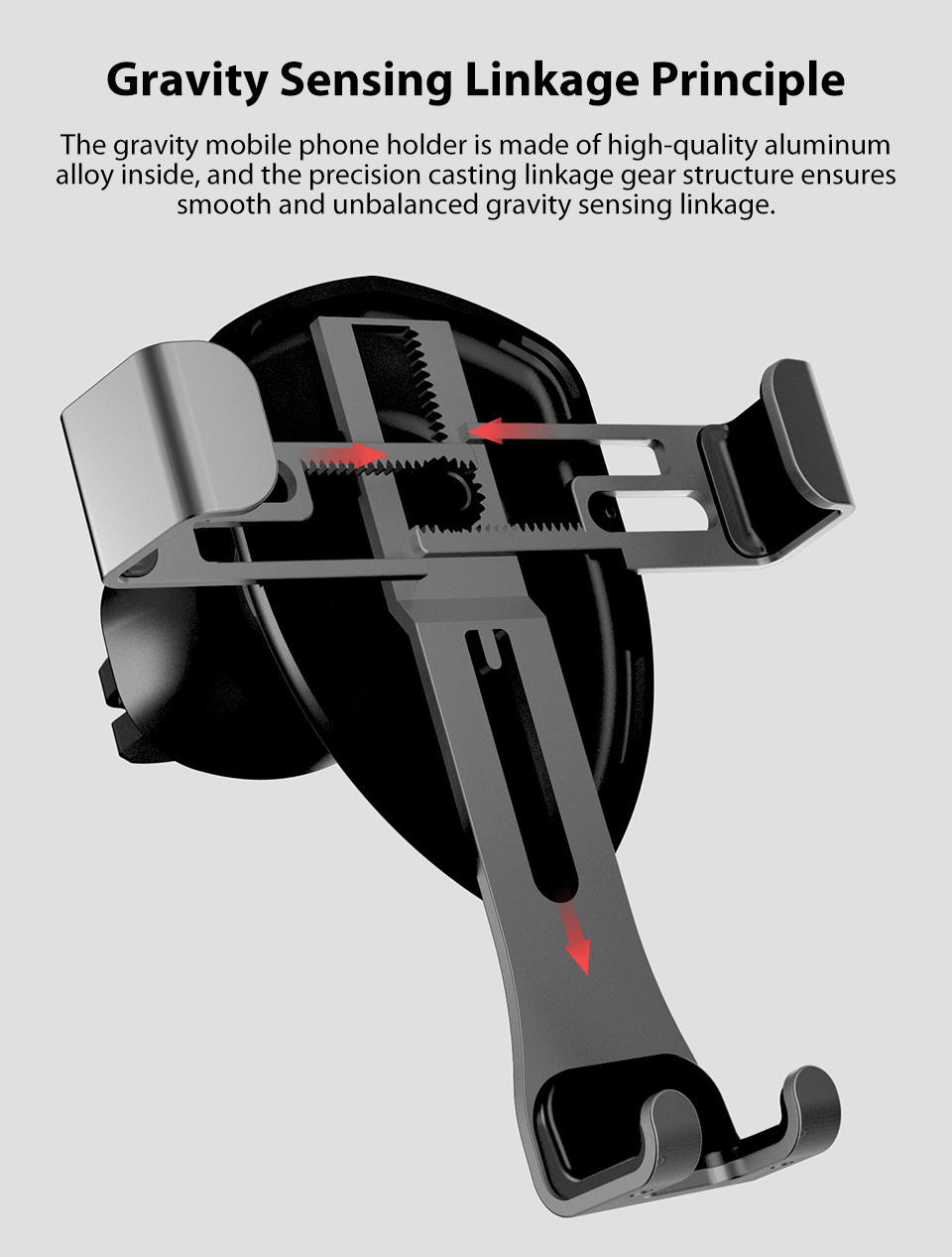 Xiaomi Mijia COOWOO Smart Car Bracket with Gravity Sensor One-handed Operation Multi-device Compatible Air Outlet Clip Holder (4)