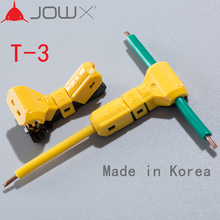 JOWX T-3 10PCS For 16-15AWG 1.5sqmm Non-stripping Electric Wire Cable Connector T joint Scotch Lock Quick Splice Crimp Terminals
