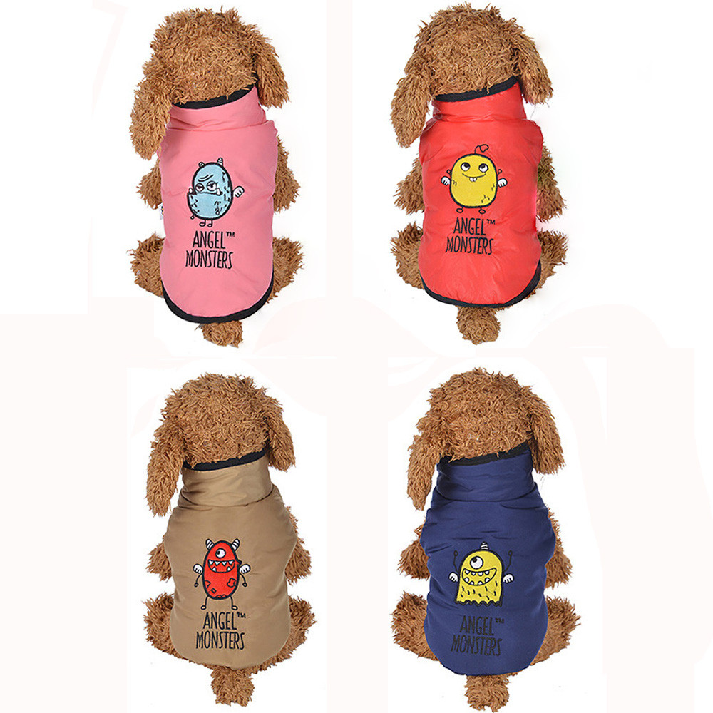 Overalls For Dogs Down Jacket Small Dogs Costume Clothes Winter Warm Padded Thickening Vest Coat Dog Costumes Pet Clothes