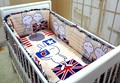 Promotion! 6PCS 100% Cotton Cheap Baby Cot Set Baby Girl Bedding Baby Cot Bumper,include(bumper+sheet+pillow cover)