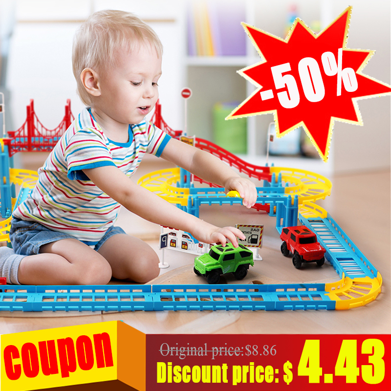 Toy Cars Flexible Roads Road Trucks Rail Lights Tips Tracking Illuminated Racing Circuits Magic Brilliance Band Set For Children