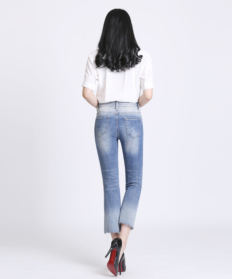 KSTUN Women Jeans with Emboridered Retro Blue Stretch Flare Pants Boot Cut High Waist Gloria Jeans Vintage Plus Size Femme Mujer 16