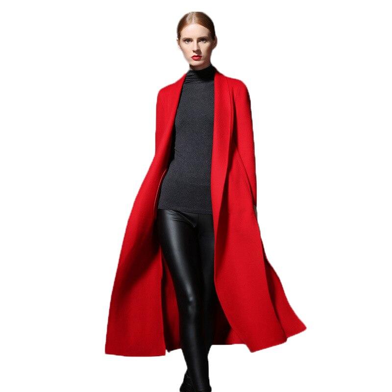 Sobretudo Manteau Giacca Donna Abrigo Casaco Inverno Feminino Women Invierno Skinny Wool Cashmere Largas Long Sleeve Woolen Coat