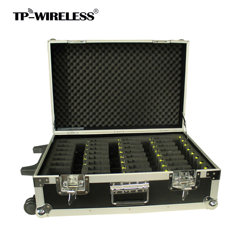 TP-Wireless Portable Pull Rod Brand 2.4GHz Wireless Tour Guide System Charging Case For 30 Device Tour Guide Items цена и фото
