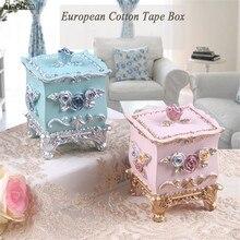 NOOLIM Европейская коробка для ватных тампонов из смолы, креативная коробка для зубочисток для гостиной, дома, Модная Портативная Коробка для ватных тампонов