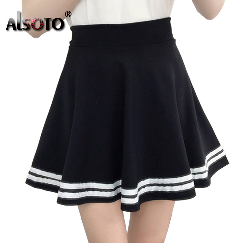 Korean New 2019 Women Skirt Autumn Winter High Jupe Waisted Faldas Female Saia Pleated Falda Mujer Skirts Pleated Skirt