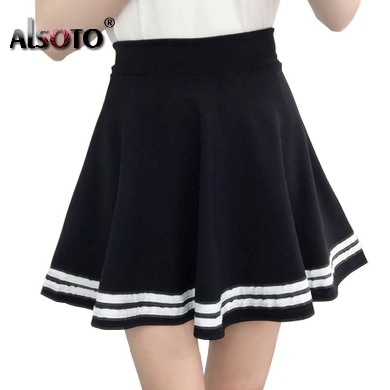 Korean New 2019 Women Skirt Autumn Winter High Jupe Waisted Faldas Female Saia Pleated Falda Mujer Skirts Pleated Skirt