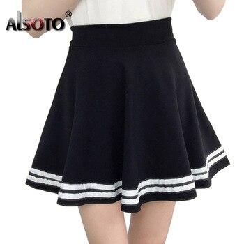 34c02520a Pantalones anchos plisados de longitud completa con estampado de rayas a la  moda de envío gratis ...