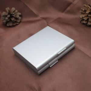 Image 5 - Двойной алюминиевый чехол для сигарет, футляр для сигар, металлический Карманный контейнер для хранения, аксессуары для сигарет