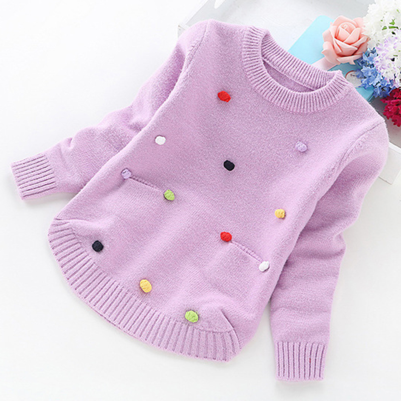Image 2 - big girl sweaters winter girl sweaters 2 4 6 8 10 years toddler knitting pullovers top korean style cardigans warm kids-in Sweaters from Mother & Kids