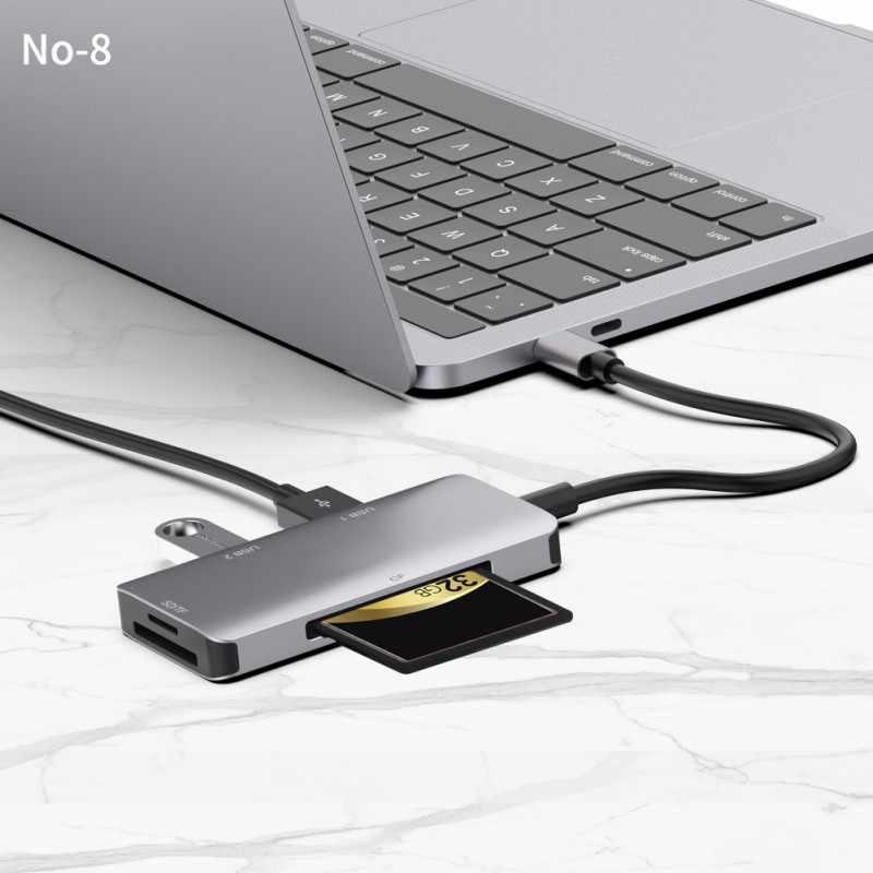 Multi type-C USB TYPE-C 3,0 концентратор 3 порта OTG адаптер разветвитель SD/TF кардридер для телефонов MacBook Air компьютер ПК ноутбук