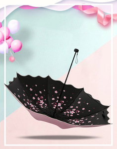Image 3 - Marke Blume Regenschirm Für Frauen Klapp Mode Mädchen Sonnenschirm Tragbare Dringend Regen Weibliche Sonne UV klar Regenschirme Licht