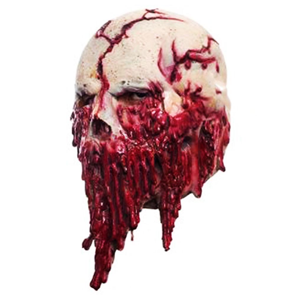 Festival Horror Skull Zombie Headgear Mask Prank Ornament Red Toy Latex