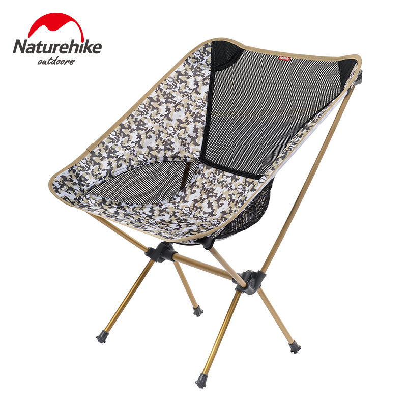 Portable Fishing Chair Naturehike Aluminum Folding Camping Chair Lightweight Outdoor Picnic Hiking Beach Chair 10pcs outdoor hiking portable folding the rain and sun lightweight silver aluminum pet film first aid tent