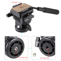 YT 950 Professional Fluid Drag Tilt Pan Damping Head Video DSLR Camera Tripod Head with Handle Two Quick Release Plates