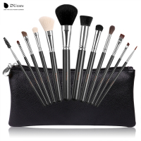DUcare 12pcs Makeup Brushes Professional Makeup Tools Kit With Travel Bag Top Nature Hair Powder Foundation