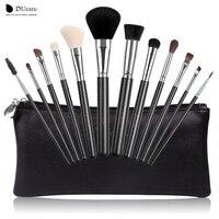 DUcare 12pcs Makeup Brushes Professional Makeup Tools Kit With Travel Bag Top Nature Hair Powder Foundation