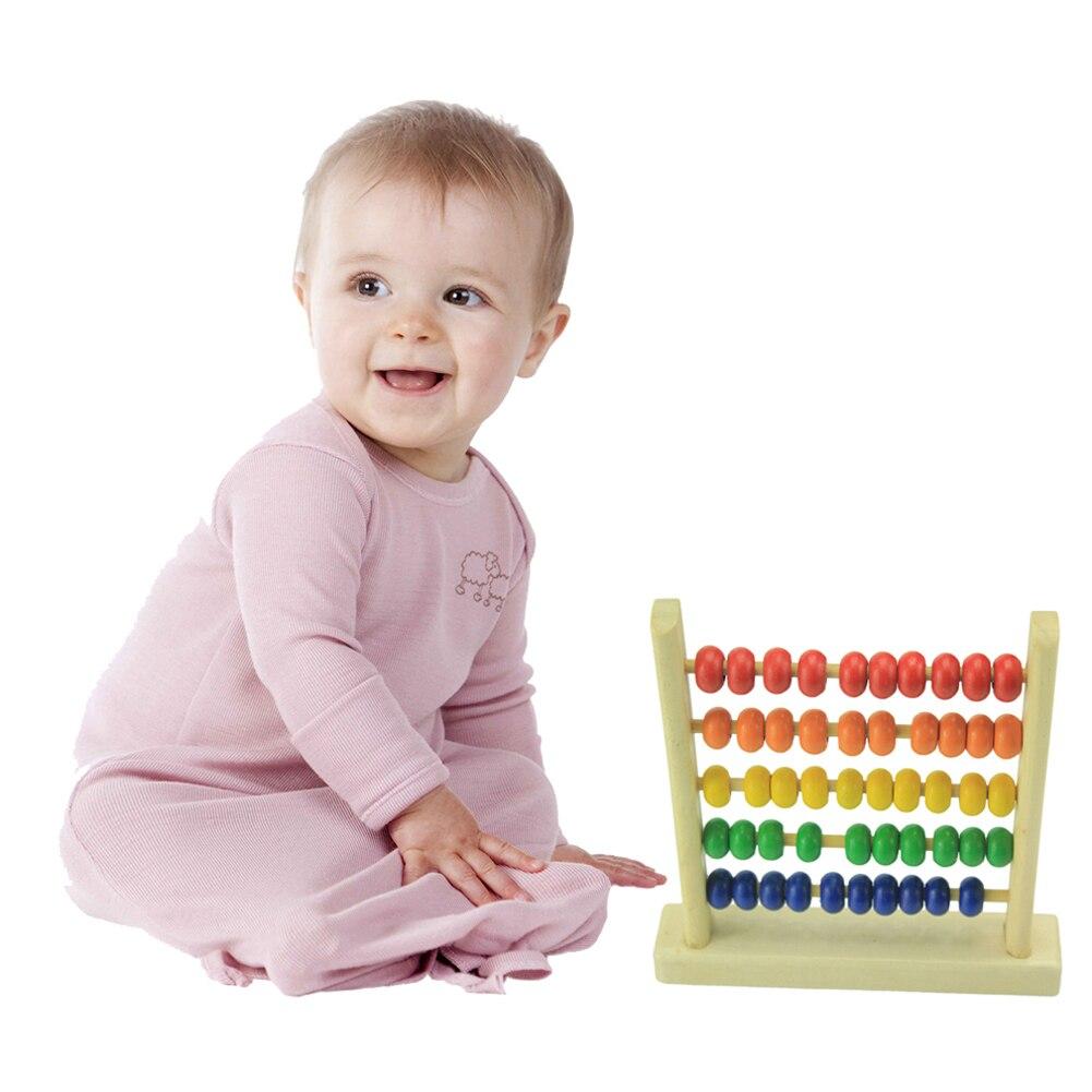 Дитячі дерев'яні іграшки маленькі Abacus ручної роботи освітні іграшки Дитячі дерев'яні раннього навчання дітей математики іграшки для дітей подарунок на день народження